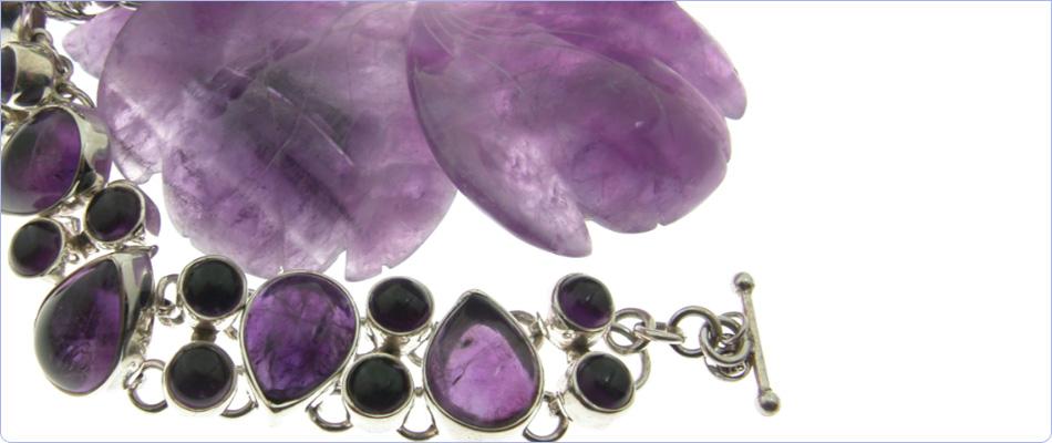 Wholesale silver amethyst jewellery