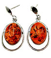 Amber Silver Earrings Thumb