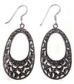 Marcasite Silver Earrings Thumb