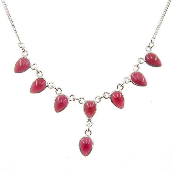 Wholesale silver necklaces wholesale silver jewellery by marjo garnet silver necklace thumb mozeypictures Choice Image
