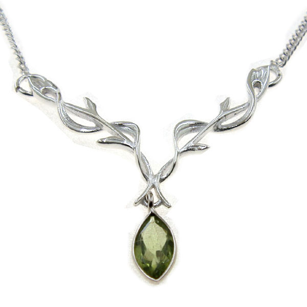 Peridot Silver Necklace Thumb