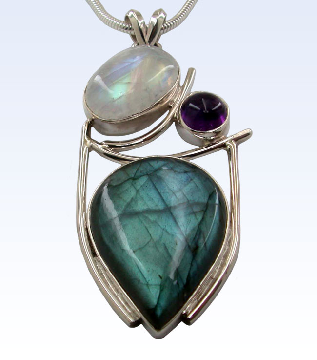 Wholesale one offs by marjo mix stone silver pendant thumb aloadofball Image collections