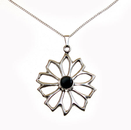 Wholesale silver pendants wholesale silver jewellery from marjo black onyx silver star pendant mozeypictures Choice Image
